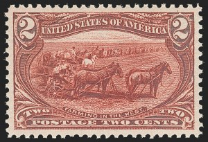 Sale Number 1140, Lot Number 682, 1c-50c 1898 Trans-Mississippi Issue (Scott 285-291)2c Trans-Mississippi (286), 2c Trans-Mississippi (286)