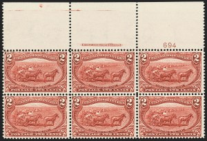 Sale Number 1140, Lot Number 684, 1c-50c 1898 Trans-Mississippi Issue (Scott 285-291)2c Trans-Mississippi (286), 2c Trans-Mississippi (286)
