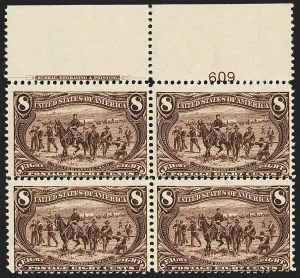 Sale Number 1140, Lot Number 688, 1c-50c 1898 Trans-Mississippi Issue (Scott 285-291)8c Trans-Mississippi (289), 8c Trans-Mississippi (289)
