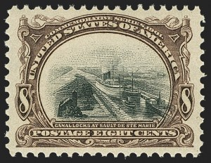 Sale Number 1140, Lot Number 727, 1901 Pan-American Issue (Scott 294-299)8c Pan-American (298), 8c Pan-American (298)