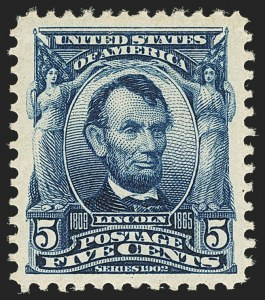 Sale Number 1140, Lot Number 731, 1902-08 Issues (Scott 300-320)5c Blue (304), 5c Blue (304)