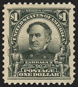 Sale Number 1140, Lot Number 739, 1902-08 Issues (Scott 300-320)$1.00 Black (311), $1.00 Black (311)
