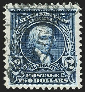 Sale Number 1140, Lot Number 746, 1902-08 Issues (Scott 300-320)$2.00 Dark Blue (312), $2.00 Dark Blue (312)