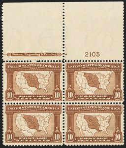 Sale Number 1140, Lot Number 763, 1904 Louisiana Purchase, 1907 Jamestown Issues (Scott 323-330)10c Louisiana Purchase (327), 10c Louisiana Purchase (327)