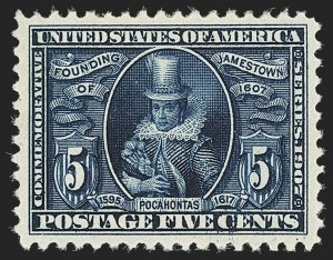 Sale Number 1140, Lot Number 769, 1904 Louisiana Purchase, 1907 Jamestown Issues (Scott 323-330)5c Jamestown (330), 5c Jamestown (330)