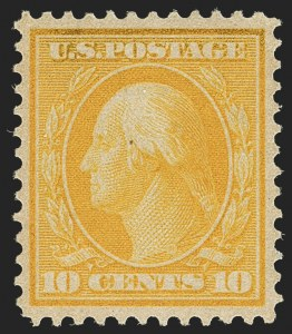 Sale Number 1140, Lot Number 795, 1909 Bluish Paper Issue (Scott 357-366)10c Yellow, Bluish (364), 10c Yellow, Bluish (364)
