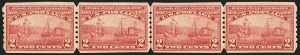 Sale Number 1140, Lot Number 811, 1909 Commemorative Issues (Scott 367-373)2c Hudson-Fulton, U.S. Automatic Vending Co. Ty. III Perforations (373 var), 2c Hudson-Fulton, U.S. Automatic Vending Co. Ty. III Perforations (373 var)