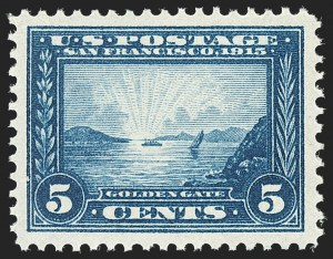 Sale Number 1140, Lot Number 836, 1913-15 Panama-Pacific Issue (Scott 397-404)5c Panama-Pacific (399), 5c Panama-Pacific (399)