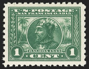 Sale Number 1140, Lot Number 839, 1913-15 Panama-Pacific Issue (Scott 397-404)1c Panama-Pacific, Perf 10 (401), 1c Panama-Pacific, Perf 10 (401)