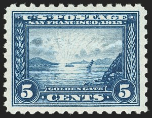 Sale Number 1140, Lot Number 840, 1913-15 Panama-Pacific Issue (Scott 397-404)5c Panama-Pacific, Perf 10 (403), 5c Panama-Pacific, Perf 10 (403)