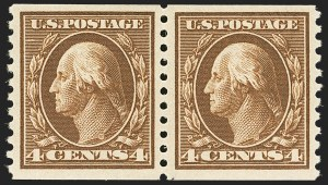 Sale Number 1140, Lot Number 869, 1912-15 Washington-Franklin Issue (Scott 405-461)4c Brown, Coil (446), 4c Brown, Coil (446)