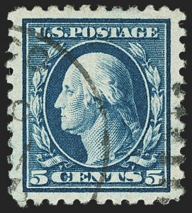 Sale Number 1140, Lot Number 886, 1916-17 Issues (Scott 462-480)5c Blue (466), 5c Blue (466)