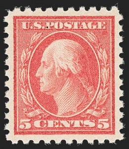 Sale Number 1140, Lot Number 887, 1916-17 Issues (Scott 462-480)5c Carmine, Error (467), 5c Carmine, Error (467)