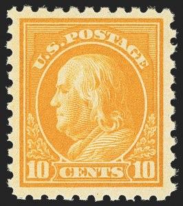 Sale Number 1140, Lot Number 893, 1916-17 Issues (Scott 462-480)10c Orange Yellow (472), 10c Orange Yellow (472)