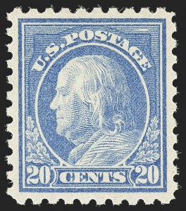 Sale Number 1140, Lot Number 895, 1916-17 Issues (Scott 462-480)20c Light Ultramarine (476), 20c Light Ultramarine (476)