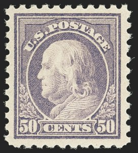 Sale Number 1140, Lot Number 897, 1916-17 Issues (Scott 462-480)50c Light Violet (477), 50c Light Violet (477)