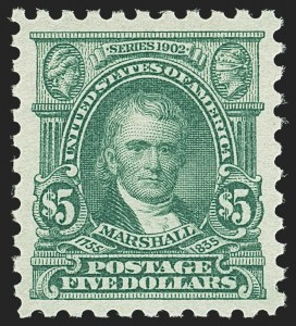 Sale Number 1140, Lot Number 898, 1916-17 Issues (Scott 462-480)$5.00 Light Green (480), $5.00 Light Green (480)