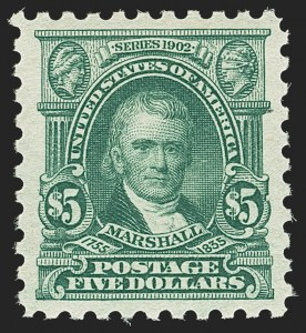 Sale Number 1140, Lot Number 899, 1916-17 Issues (Scott 462-480)$5.00 Light Green (480), $5.00 Light Green (480)