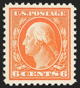 Sale Number 1140, Lot Number 923, 1917-19 Issues (Scott 481-524)6c Red Orange (506), 6c Red Orange (506)
