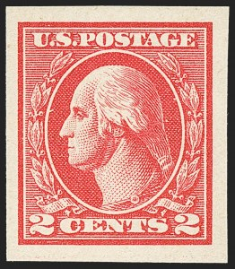 Sale Number 1140, Lot Number 945, 1918-22 Issues (Scott 525-550)2c Carmine, Ty. V, Imperforate (533), 2c Carmine, Ty. V, Imperforate (533)