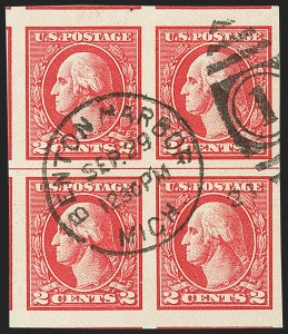 Sale Number 1140, Lot Number 947, 1918-22 Issues (Scott 525-550)2c Carmine, Ty. V, Imperforate (533), 2c Carmine, Ty. V, Imperforate (533)