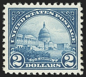 Sale Number 1140, Lot Number 976, 1922-29 Issues (Scott 551-619)$2.00 Deep Blue (572), $2.00 Deep Blue (572)
