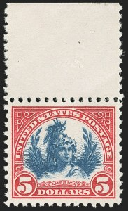 Sale Number 1140, Lot Number 979, 1922-29 Issues (Scott 551-619)$5.00 Carmine & Blue (573), $5.00 Carmine & Blue (573)