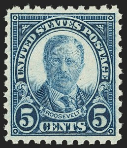 Sale Number 1140, Lot Number 986, 1922-29 Issues (Scott 551-619)5c Blue, Perf 10 (586), 5c Blue, Perf 10 (586)