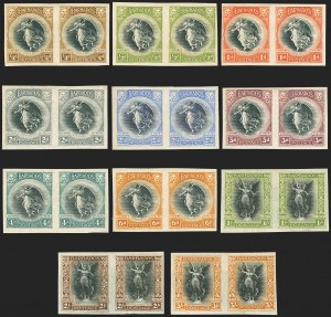 Sale Number 1141, Lot Number 2013, Bahamas thru British GuianaBARBADOS, 1920, -1/4p-3sh Victory Issue, Imperforate Plate Proofs (140P-150P; SG 201P-211P), BARBADOS, 1920, -1/4p-3sh Victory Issue, Imperforate Plate Proofs (140P-150P; SG 201P-211P)