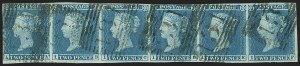 Sale Number 1143, Lot Number 3016, Great Britain - Victoria IssuesGREAT BRITAIN, 1841, 2p Blue (4; SG 14), GREAT BRITAIN, 1841, 2p Blue (4; SG 14)