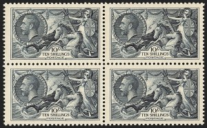 Sale Number 1143, Lot Number 3050, Great Britain - King George V IssuesGREAT BRITAIN, 1934, 10sh Dark Blue Re-engraved Seahorse (224; SG 452), GREAT BRITAIN, 1934, 10sh Dark Blue Re-engraved Seahorse (224; SG 452)