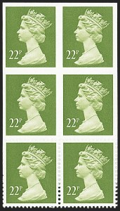 Sale Number 1143, Lot Number 3056, Great Britain - King George VI-Queen Elizabeth II IssuesGREAT BRITAIN, 1984, 22p Yellow Green, Imperforate Pair (SG x983a), GREAT BRITAIN, 1984, 22p Yellow Green, Imperforate Pair (SG x983a)