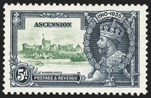 Sale Number 1143, Lot Number 3067, British Commonwealth Omnibus Issues thru AscensionASCENSION, 1935, 5p Jubilee, Kite and Vertical Log (SG 33k), ASCENSION, 1935, 5p Jubilee, Kite and Vertical Log (SG 33k)