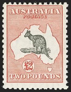 Sale Number 1143, Lot Number 3090, AustraliaAUSTRALIA, 1930, £2 Dull Red & Black (102; SG 114), AUSTRALIA, 1930, £2 Dull Red & Black (102; SG 114)