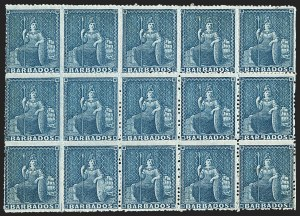 Sale Number 1143, Lot Number 3106, BarbadosBARBADOS, 1861, (1p) Deep Blue, Rough Perf 14 to 16 (16c; SG 24), BARBADOS, 1861, (1p) Deep Blue, Rough Perf 14 to 16 (16c; SG 24)