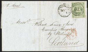 Sale Number 1143, Lot Number 3154, British GuianaBRITISH GUIANA, 1863, 24c Yellow Green, Perf 12 (63; SG 77), BRITISH GUIANA, 1863, 24c Yellow Green, Perf 12 (63; SG 77)