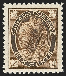 Sale Number 1143, Lot Number 3263, Canada - Maple Leaf thru Modern and Back-of-BookCANADA, 1897, 6c Brown Maple Leaf (71), CANADA, 1897, 6c Brown Maple Leaf (71)
