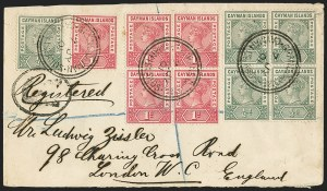 Sale Number 1143, Lot Number 3295, Cayman Islands thru CeylonCAYMAN ISLANDS, 1900, -1/2p Pale Green and 1p Carmine Rose (1-2; SG 1a, 2), CAYMAN ISLANDS, 1900, -1/2p Pale Green and 1p Carmine Rose (1-2; SG 1a, 2)