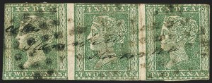 Sale Number 1143, Lot Number 3361, India - 1852 Scinde Dawk thru 1854 Lithograph IssuesINDIA, 1854, 2a Green (SG 31; Scott 5), INDIA, 1854, 2a Green (SG 31; Scott 5)