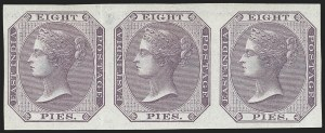 Sale Number 1143, Lot Number 3376, India - 1855-64 De la Rue Issues, UnwatermarkedINDIA, 1860-64, 8p Lilac, Imperforate (SG 52b; Scott 19b), INDIA, 1860-64, 8p Lilac, Imperforate (SG 52b; Scott 19b)