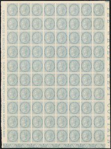 Sale Number 1143, Lot Number 3377, India - 1865 De la Rue Issues, WatermarkedINDIA, 1865-67, -1/2 Blue, Plate Proof (SG 54P; Scott 20P), INDIA, 1865-67, -1/2 Blue, Plate Proof (SG 54P; Scott 20P)