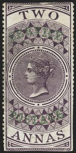 Sale Number 1143, Lot Number 3417, India - OfficialsINDIA, 1866, 2a Violet, Official (SG O16; Scott O12), INDIA, 1866, 2a Violet, Official (SG O16; Scott O12)