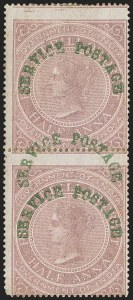 Sale Number 1143, Lot Number 3426, India - OfficialsINDIA, 1866, -1/2a Violet, Official, Double Overprint (SG O19a; Scott O15a), INDIA, 1866, -1/2a Violet, Official, Double Overprint (SG O19a; Scott O15a)