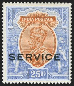 Sale Number 1143, Lot Number 3433, India - OfficialsINDIA, 1912, 3p-25r Official (SG O73-O96; Scott O52-O65), INDIA, 1912, 3p-25r Official (SG O73-O96; Scott O52-O65)