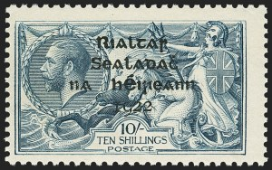 Sale Number 1143, Lot Number 3464, Ionian Islands thru JamaicaIRELAND, 1922, 2sh6p-10sh Seahorses, Thom Overprint (36-38; SG 44-46), IRELAND, 1922, 2sh6p-10sh Seahorses, Thom Overprint (36-38; SG 44-46)