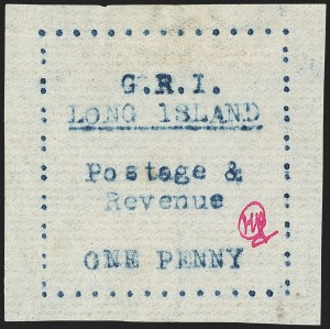 Sale Number 1143, Lot Number 3476, Kenya & Uganda thru Long IslandLONG ISLAND, 1916, 1p Black, Blue, Mauve and Red on Thin Horizontally Laid Paper (SG 10-13), LONG ISLAND, 1916, 1p Black, Blue, Mauve and Red on Thin Horizontally Laid Paper (SG 10-13)
