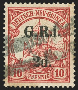 "Sale Number 1143, Lot Number 3500, New Britain thru New ZealandNEW BRITAIN, 1914, 2p on 10pf Carmine, ""1"" for ""I"" (3a; SG 3a), NEW BRITAIN, 1914, 2p on 10pf Carmine, ""1"" for ""I"" (3a; SG 3a)"