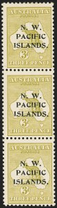 Sale Number 1143, Lot Number 3524, Niger Coast Protectorate thru PalestineNORTH WEST PACIFIC ISLANDS, 1916, 3p Olive Bister, Die II (24a; SG 96a), NORTH WEST PACIFIC ISLANDS, 1916, 3p Olive Bister, Die II (24a; SG 96a)
