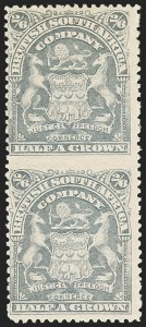 Sale Number 1143, Lot Number 3533, Papua thru RhodesiaRHODESIA, 1906, 2sh6p Bluish Gray, Vertical Pair, Imperforate Between (67a; SG 85a), RHODESIA, 1906, 2sh6p Bluish Gray, Vertical Pair, Imperforate Between (67a; SG 85a)