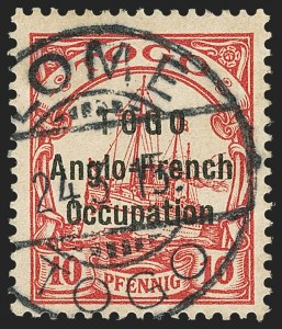 Sale Number 1143, Lot Number 3568, Seychelles thru TransvaalTOGO, 1915, 10pf Carmine, Without Watermark (SG H31a), TOGO, 1915, 10pf Carmine, Without Watermark (SG H31a)